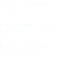 Compare spa models at a glance Explore benefits of Dynasty hydrotherapy Learn why owners buy again and again